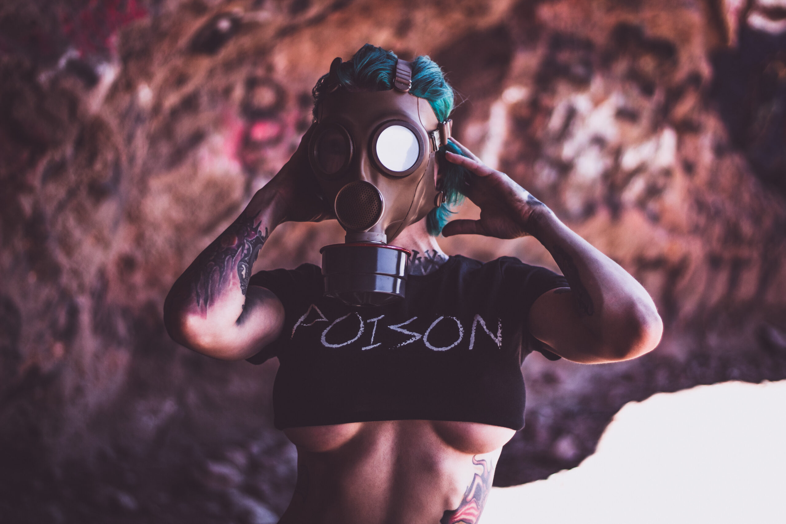 DollyDestruction-InkPoisoning-CropTop-Poison-Clothing-Photography